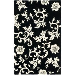 Safavieh Handmade Soho Sillo Black New Zealand Wool Rug (3'6 x 5'6')