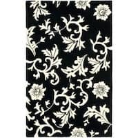 Safavieh Handmade Soho Sillo Black New Zealand Wool Rug - 3'6 x 5'6'