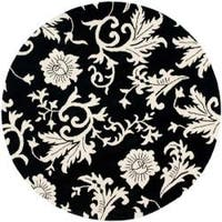 Safavieh Handmade Soho Sillo Black New Zealand Wool Rug - 6' x 6' Round