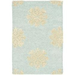 Safavieh Handmade Soho Medallion Light Blue New Zealand Wool Rug (2' x 3')