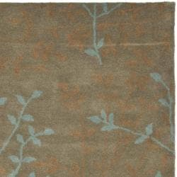 Safavieh Handmade Soho Moments Light Brown N. Z. Wool Rug (3'6 x 5'6') - Thumbnail 1