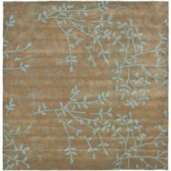 Safavieh Handmade Soho Moments Light Brown N. Z. Wool Rug (6' Square)