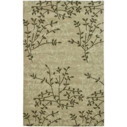 Safavieh Handmade Soho Moments Green New Zealand Wool Rug (3'6 x 5'6')