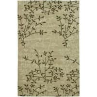 Safavieh Handmade Soho Moments Green New Zealand Wool Rug - 7'6 x 9'6