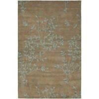 Safavieh Handmade Soho Moments Light Brown N. Z. Wool Rug (3'6 x 5'6')