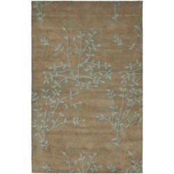 Safavieh Handmade Soho Moments Light Brown New Zealand Wool Rug (5'x 8')