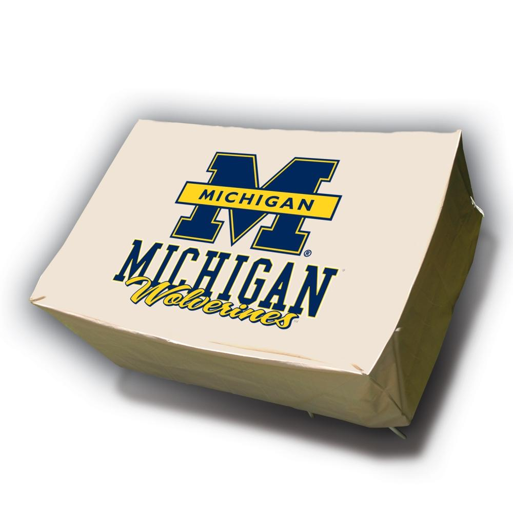 Michigan Wolverines Rectangle Patio Set Table Cover