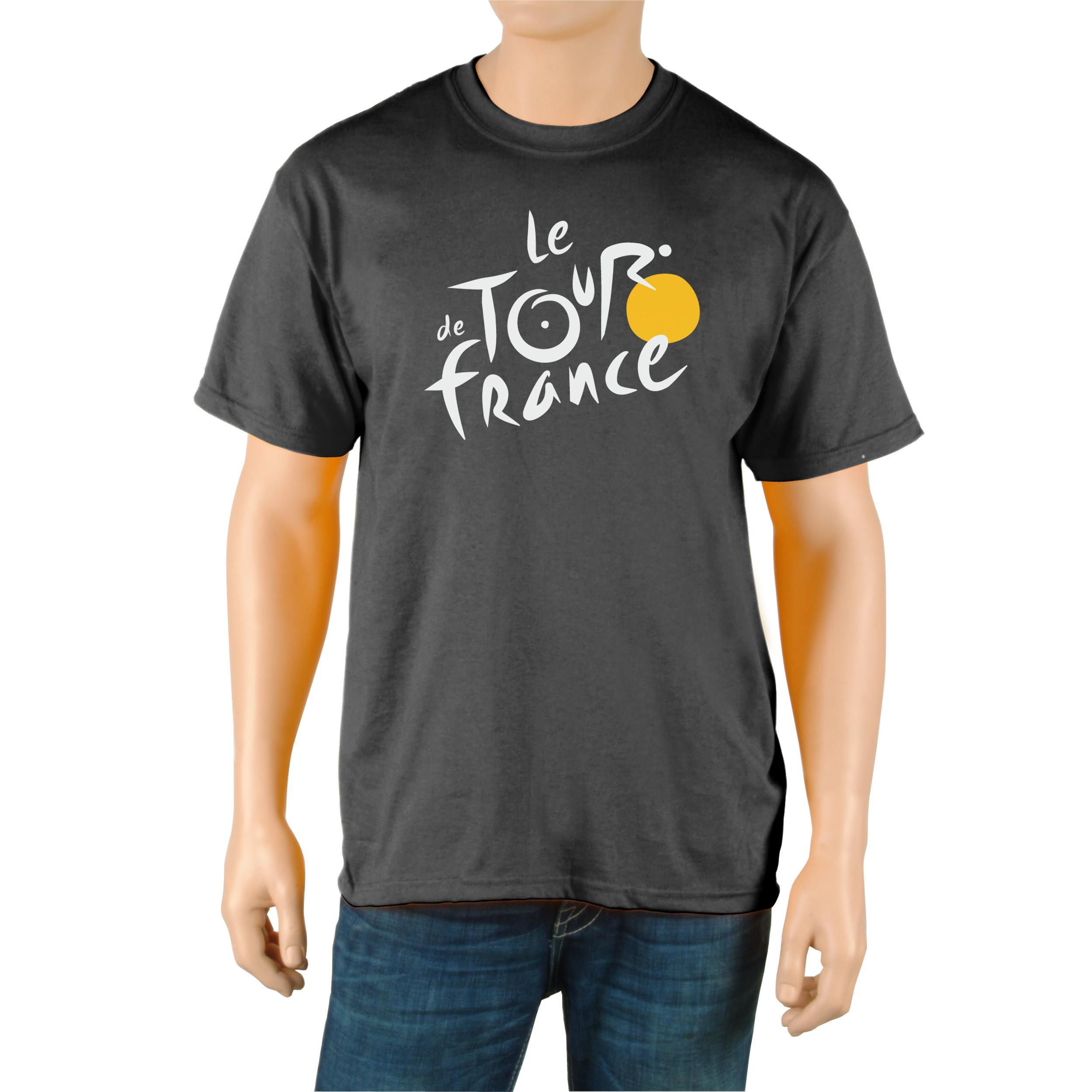 Le Tour de France Men's Black Cotton Official T-Shirt