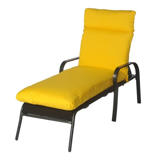 Shop Shar Outdoor Bright Yellow Chaise Lounge Chair Cushion Made