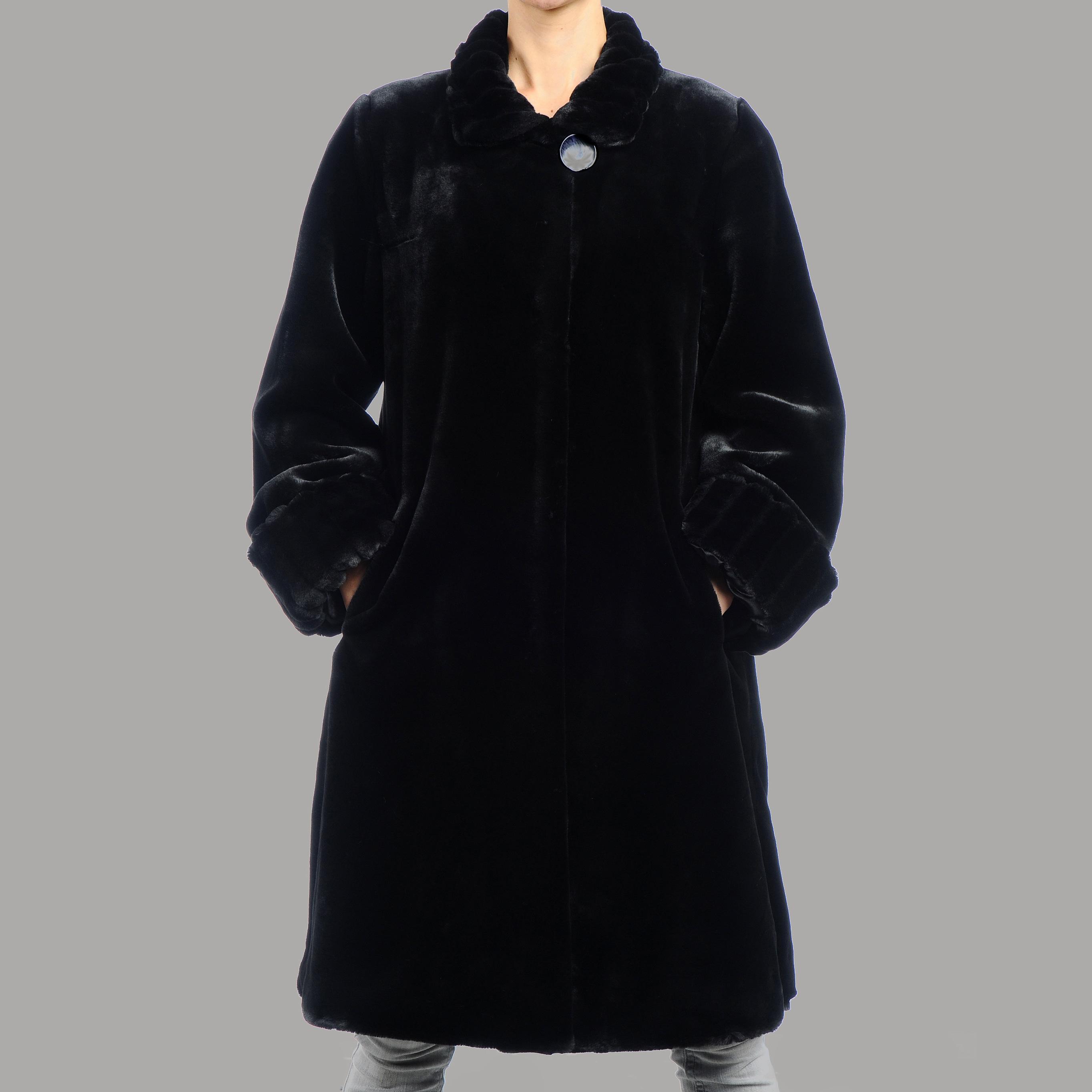 Nuage Women's Beaver Faux Fur Short Coat