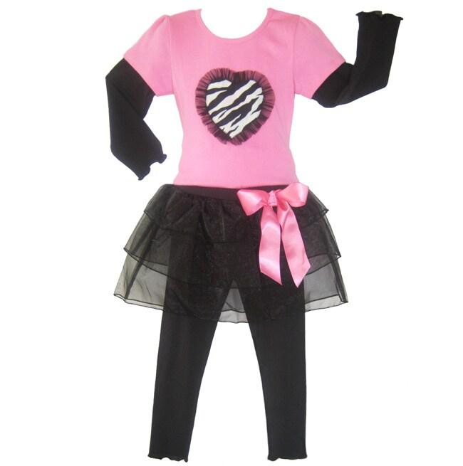 Ann Loren Girl's 'Ballerina Rocker' Tutu Set