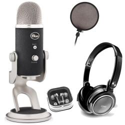 Blue Microphones Yeti Pro Multipattern Condenser Microphone with Accessory Kit