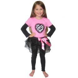 Ann Loren Girl's 'Ballerina Rocker' Tutu Set - Thumbnail 1