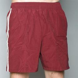 Speedo Men's Burgundy Twin Stripe Swimsuit - Thumbnail 1