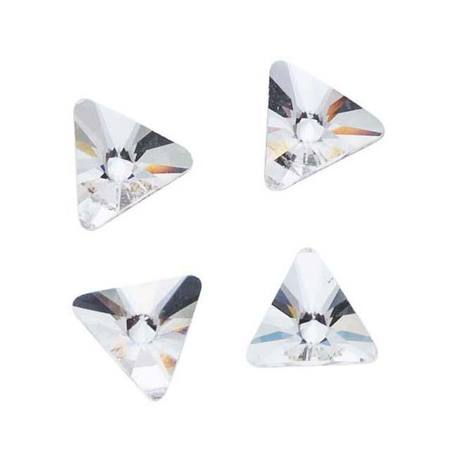 Beadaholique Crystal 5mm Austrian Crystal Flatback Triangle-Shaped Rhinestones (Pack of 10)