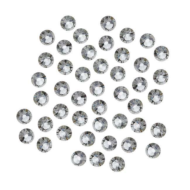 Beadaholique Black Diamond ss16 Crystal Flatback Rhinestones (Pack of 50)