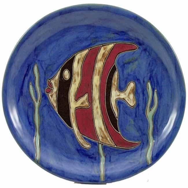 Mara Stoneware Oval Fish Platter (Mexico)