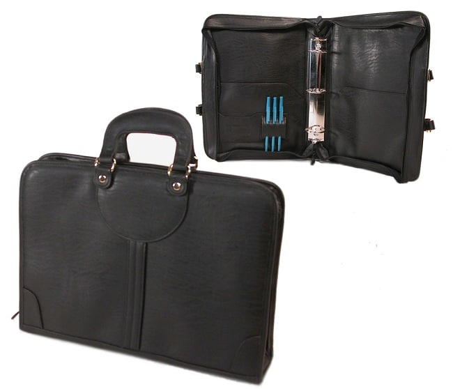 Executive Zippered Legal Padfolio And 3 Ring Binder Free