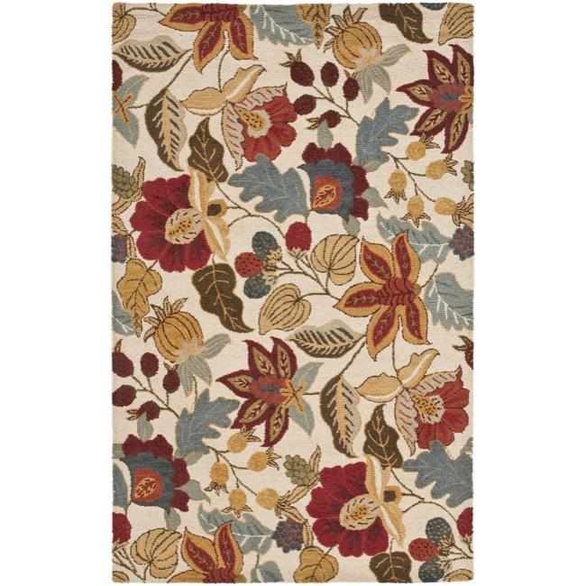 Safavieh Handmade Blossom Ivory Wool Rug - 8' x 10'