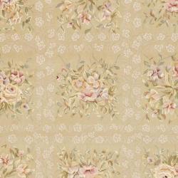 Safavieh Handmade Bouquet Tiles Sand/ Green Wool and Silk Rug (8' x 10')