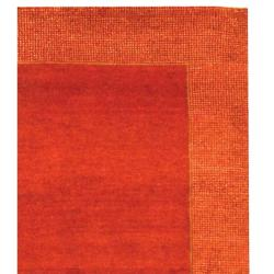 Safavieh Hand-knotted Gabeh Passage Rust Wool Rug (5' x 8') - Thumbnail 1