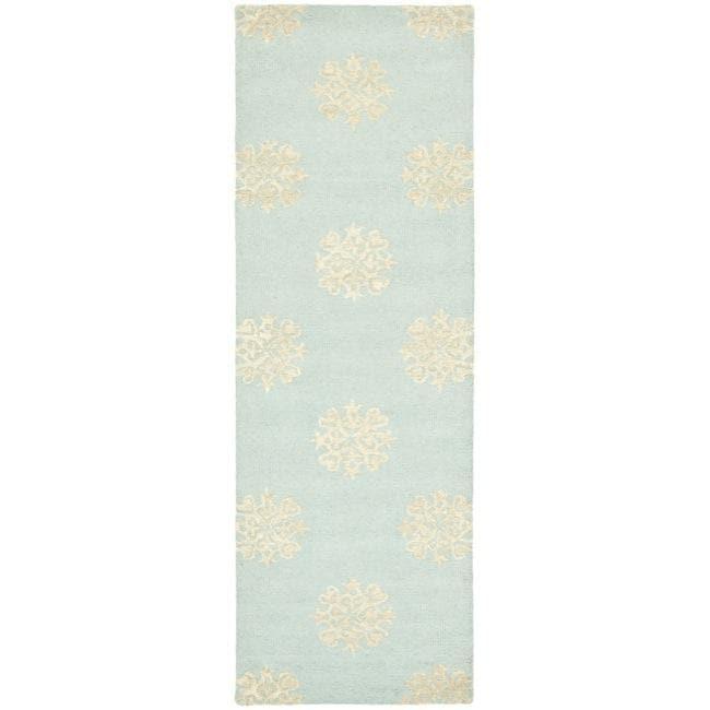 Safavieh Handmade Soho Medallion Light Blue N. Z. Wool Rug (2u0026#39;6 x 8u0026#39;) - Free Shipping Today ...
