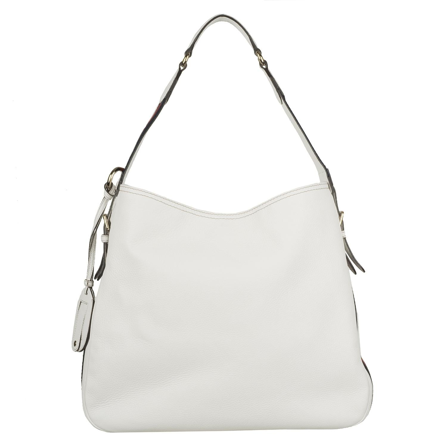 Gucci Heritage Medium White Leather Hobo Bag Free Shipping