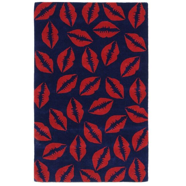 nuLOOM Handmade Cosmo Kiss New Zealand Wool Rug (7'6 x 9'6)