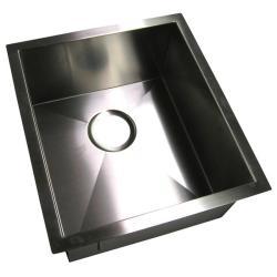 DeNovo 15.75-inch Single Bowl Undermount Stainless Steel Kitchen/ Bar Sink - Thumbnail 1