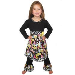 Ann Loren Girl's Fashion Dress Set