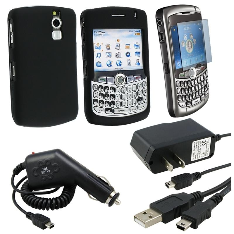 5-piece Case/ Chargers/ Protector/ USB Cable for BlackBerry Curve 8300