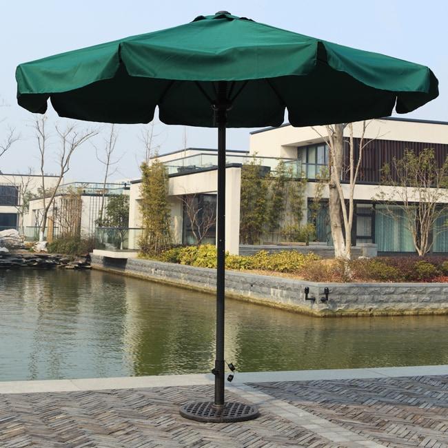 Deluxe 10-foot Green Patio Umbrella