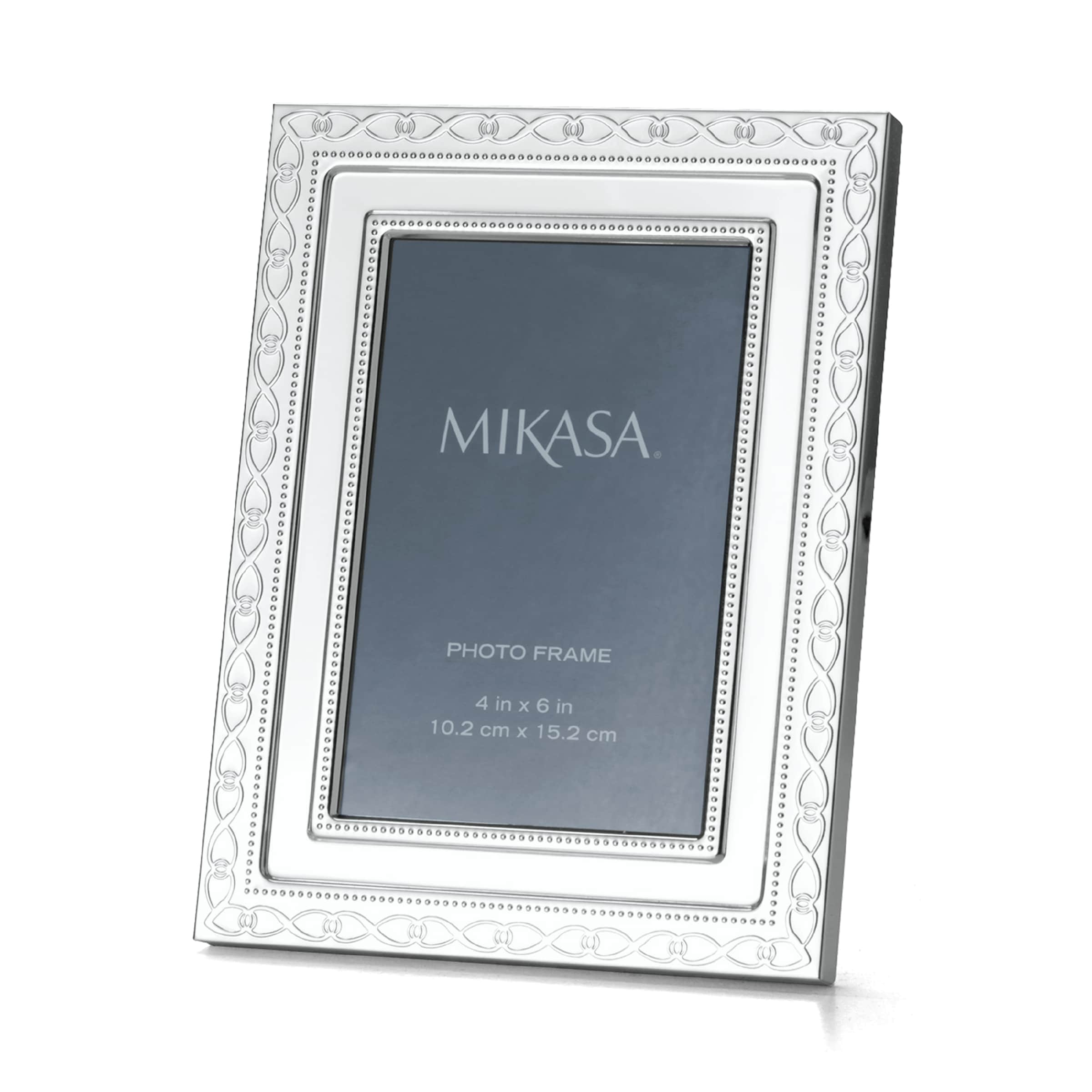 Shop Mikasa Infinity Band 4x6 Inch Photo Frame Free Shipping On