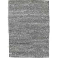 Hand-knotted Solid Grey Casual Valley Semi-Worsted Wool Rug (8' x 11')