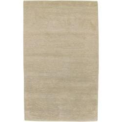 Hand-knotted Solid Beige Causal Pueblo Wool Area Rug - 8' x 11' - Thumbnail 0