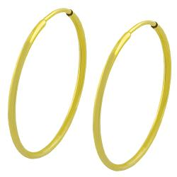 "Thumbnail 2, Fremada 14k Yellow Gold 22-mm Polished Tube Hoop Earrings - 7'10"" x 11'. Changes active main hero."