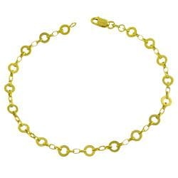 Fremada 14k Yellow Gold Alternate Flat Rolo Link Bracelet