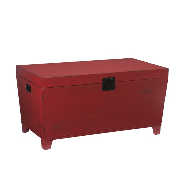 Angelo Home Red Pyramid Trunk Coffee Table Free Shipping Today 13718069