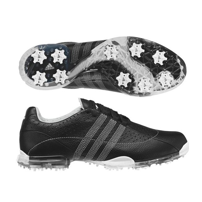 adidas men's adipure black and white golf shoes