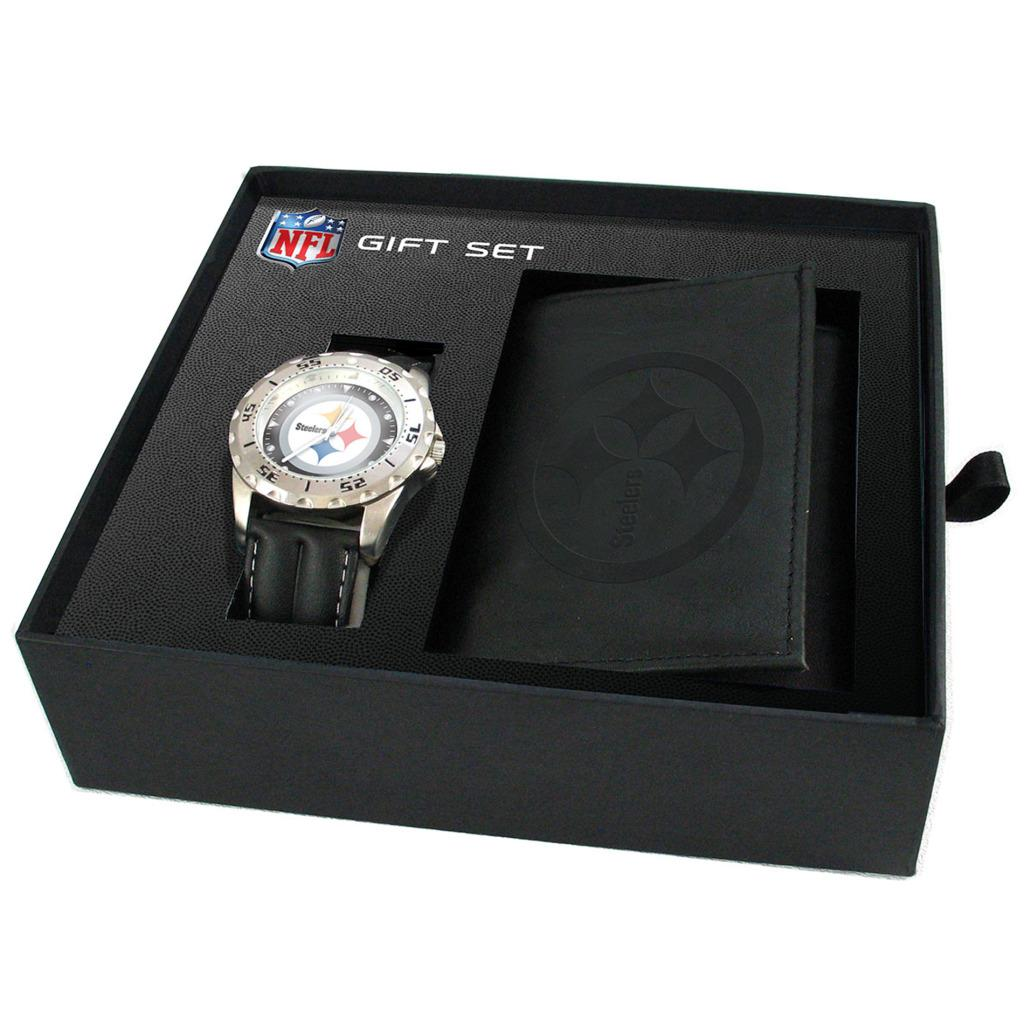 Pittsburgh Steelers Watch and Wallet Gift Set