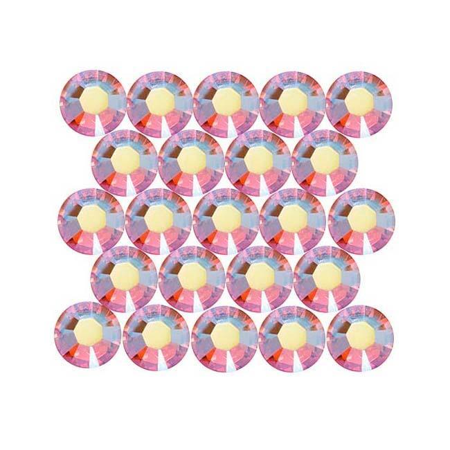 Beadaholique Light Rose AB ss16 Crystal Flatback Rhinestones (Pack of 50)