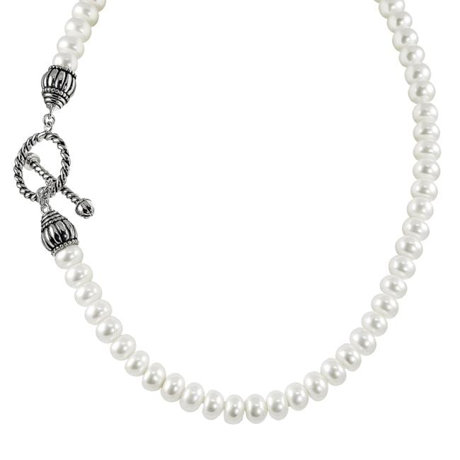 3c68bd4c9 Shop Pearls For You Sterling Silver White Freshwater Corn Pearl Necklace (9-9.5  mm) - Free Shipping Today - Overstock - 6045118