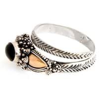Handmade Sterling Silver 'Dragon' Onyx Ring (Indonesia)