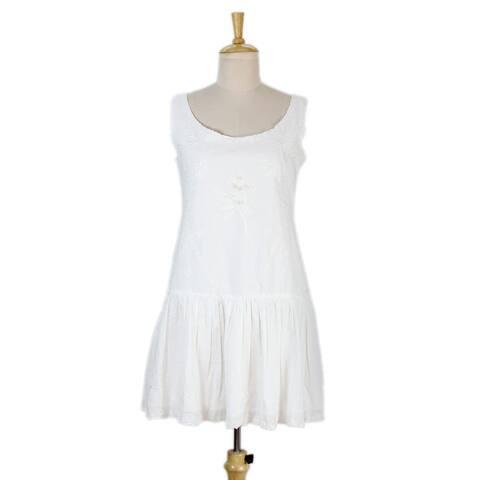 Handmade Cotton 'Summer Bouquet' Dress (India)