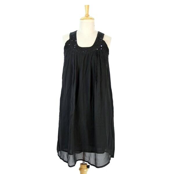 ab9ec2276ee75 Shop Handmade Silk 'Delhi Sophisticate' Dress (India) - On Sale ...