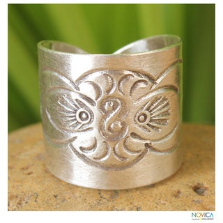 Handmade Sterling Silver 'Live with Animal' Ring (Thailand)