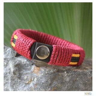 Handmade Men's 'Spirit of Africa' Wristband Bracelet (Ghana)