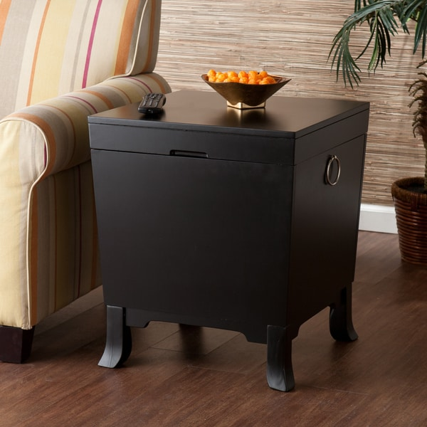 Harper Blvd Parsons Black End Table Trunk