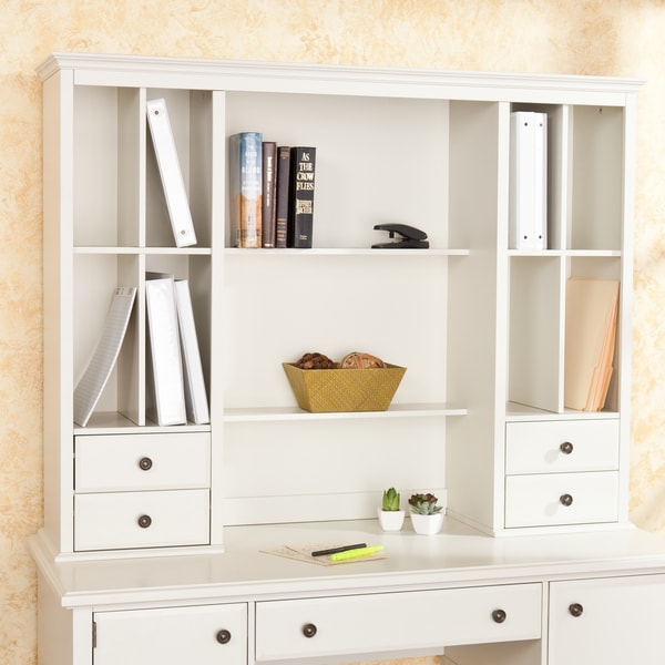 Barrington Off White Office Desk Hutch - Free Shipping Today