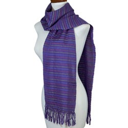 Handmade Cotton 'Vineyard Fantasy' Scarf (Guatemala)